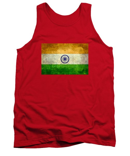 Flag Of India Retro Vintage Version Tank Top by Bruce Stanfield