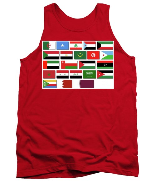 Flags Of The Arab League Tank Top