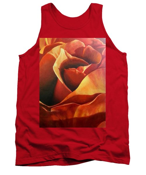 Flaming Rose Tank Top