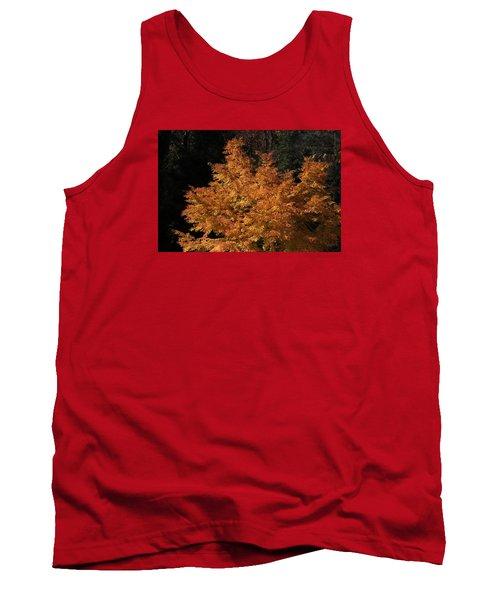 Tank Top featuring the photograph Flaming Tree Brush by Deborah  Crew-Johnson