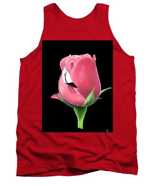 Flamingo Rose Tank Top