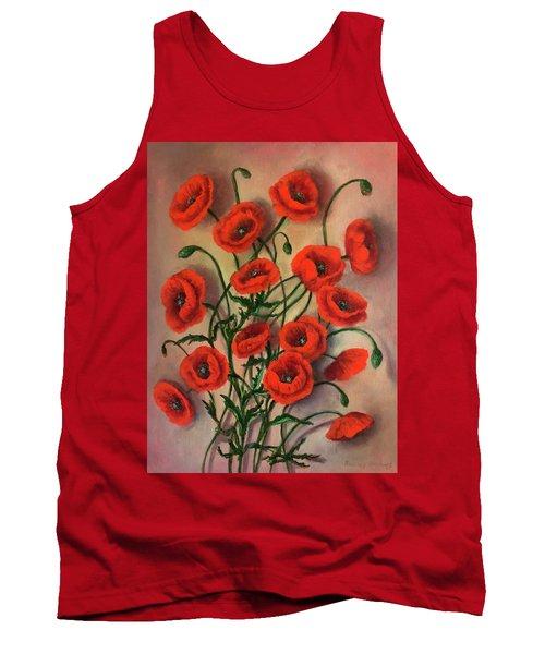 Flander Poppies Tank Top