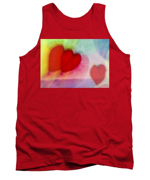 Floating Hearts Tank Top by Susan Stone
