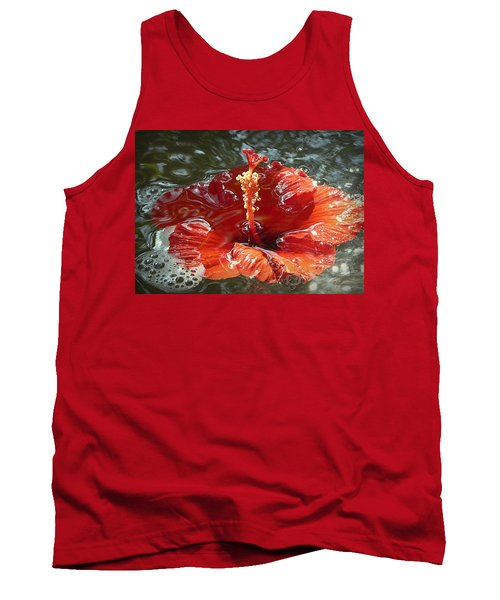 Floating Hibiscus Tank Top