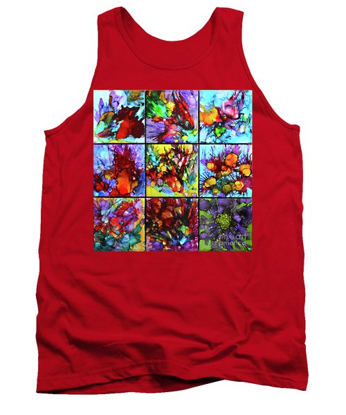 Floral Air Tank Top by Alene Sirott-Cope