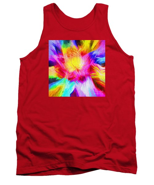 Tank Top featuring the photograph Floral Mandala 02 by Jack Torcello