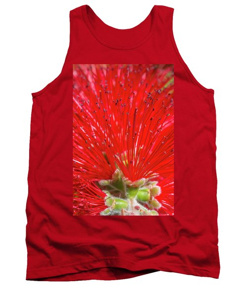 Floral Red Tank Top