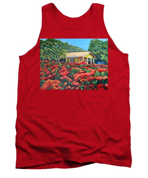 Floral Takeover Tank Top by Marilyn McNish