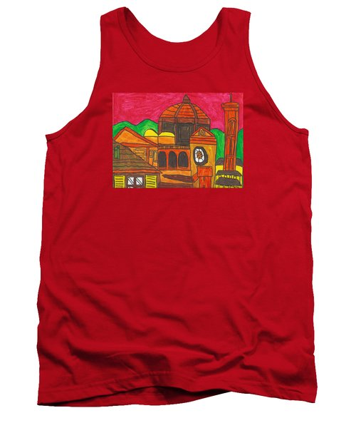 Tank Top featuring the painting Florence by Artists With Autism Inc