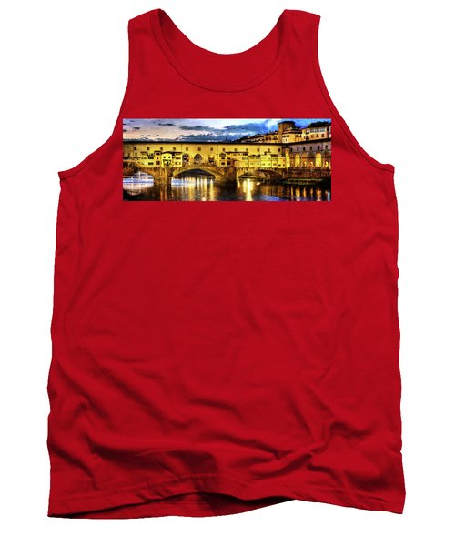 Florence - Ponte Vecchio Sunset From The Oltrarno - Vintage Version Tank Top