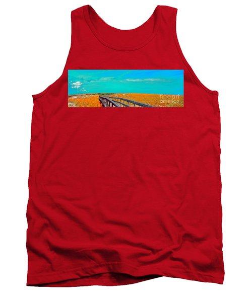 Florida Sand Dunes Atlantic New Smyrna Beach Tank Top