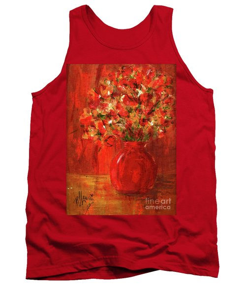 Tank Top featuring the painting Florists Red by P J Lewis
