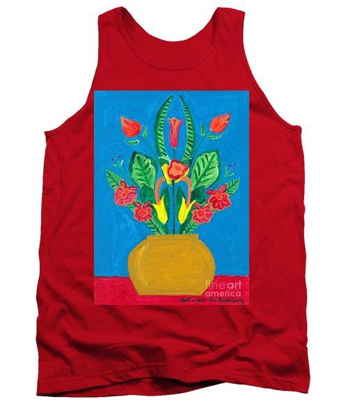 Flower Bowl Tank Top by Margie-Lee Rodriguez