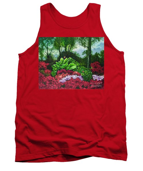 Tank Top featuring the painting Flower Garden X by Michael Frank