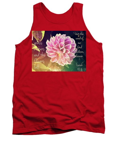 Flower With Scripture Tank Top