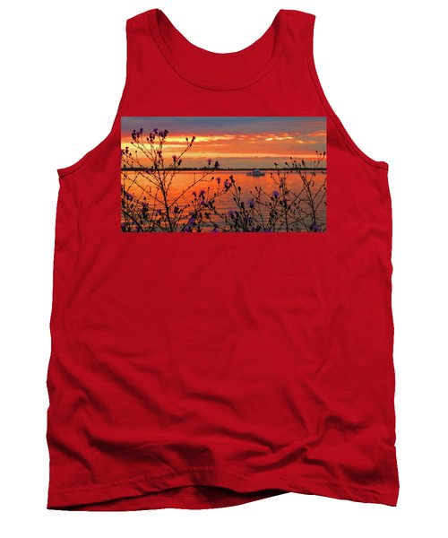 Flowers Along The Shore At Tibbetts Point  Tank Top