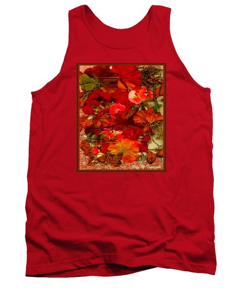 Tank Top featuring the mixed media Flowers For You by Ray Tapajna