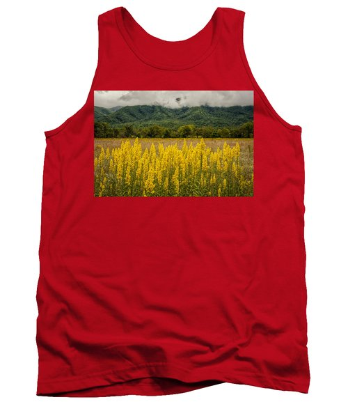 Tank Top featuring the photograph Flowers In Cades Cove by Tyson Smith