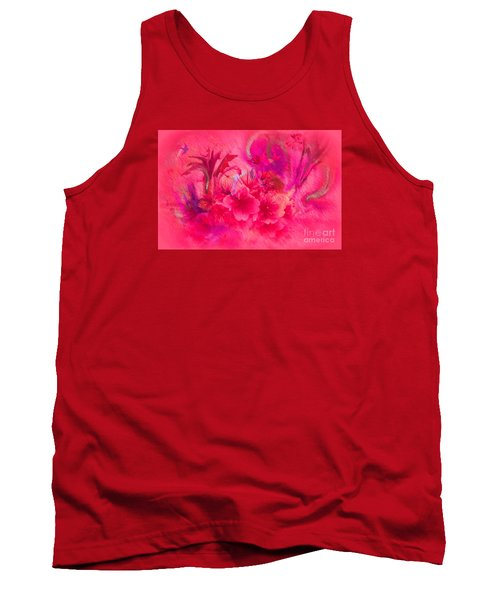 Tank Top featuring the painting Flower Art Pinky Pink  by Sherri  Of Palm Springs