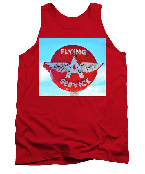 Flying A Service Sign Tank Top by Joan Reese