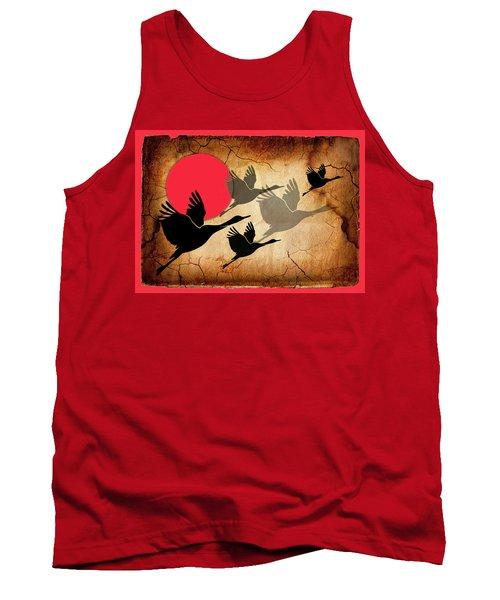 Flying Cranes Tank Top