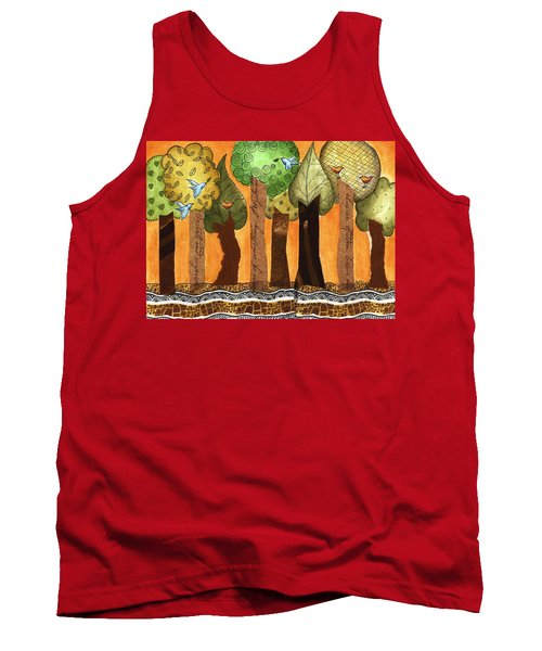 Flying In The Forest Tank Top