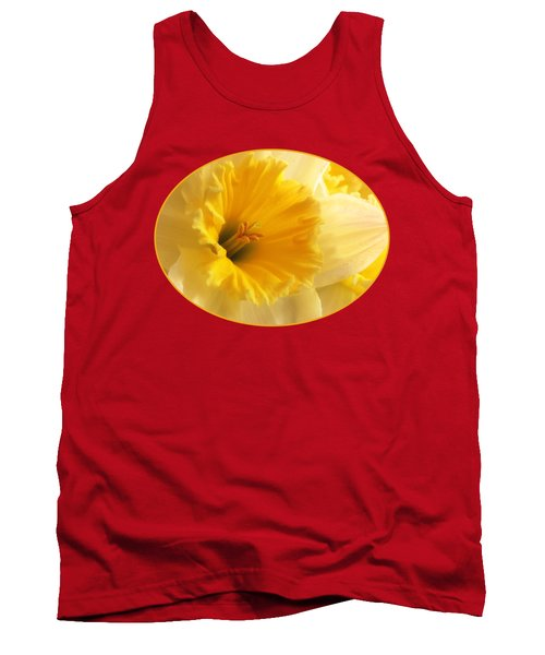 Focus On Spring - Daffodil Close Up Tank Top by Gill Billington