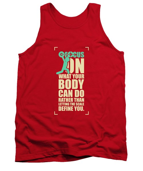Focus On Your Body Gym Quotes Poster Tank Top