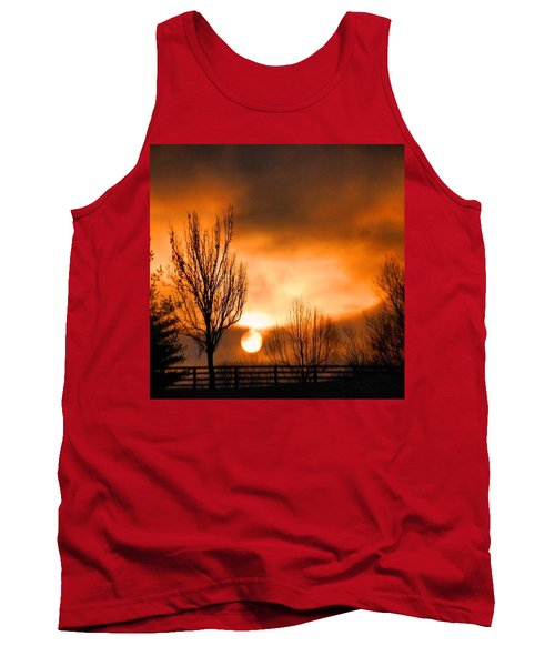 Tank Top featuring the photograph Foggy Sunrise by Sumoflam Photography