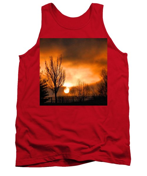 Foggy Sunrise Tank Top