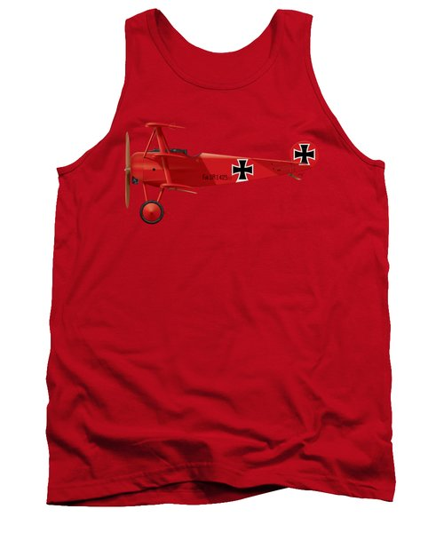 Fokker Dr.1 - The Red Baron - March 1918 Tank Top