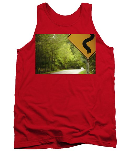 Tank Top featuring the photograph Follow The Sign by Cendrine Marrouat