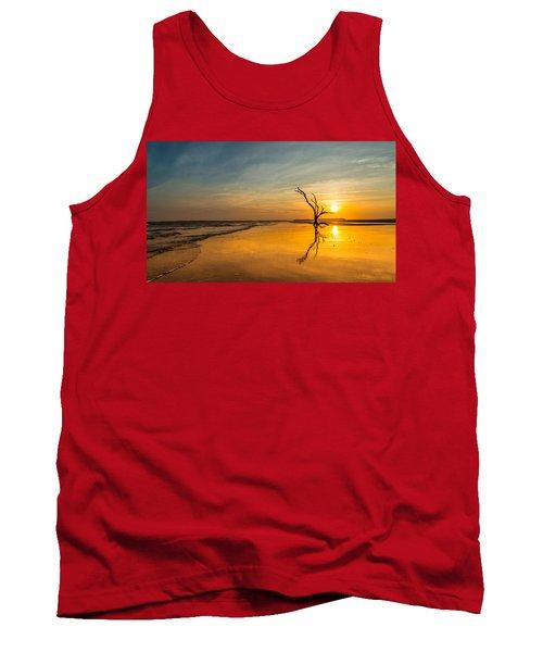 Folly Beach Skeleton Tree At Sunset - Folly Beach Sc Tank Top