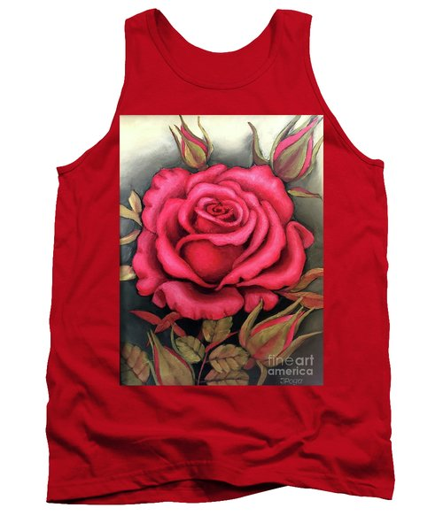 For You, The Red Rose Tank Top