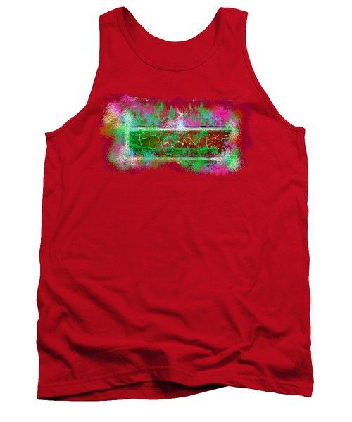 Forgive Brick Pink Tshirt Tank Top by Tamara Kulish