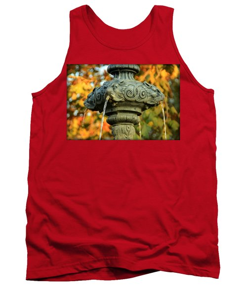 Tank Top featuring the photograph Fountain At Union Park by Chris Berry