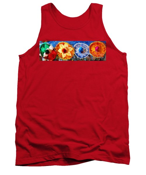 Tank Top featuring the photograph Four Amigos In Cozumel by Sue Melvin
