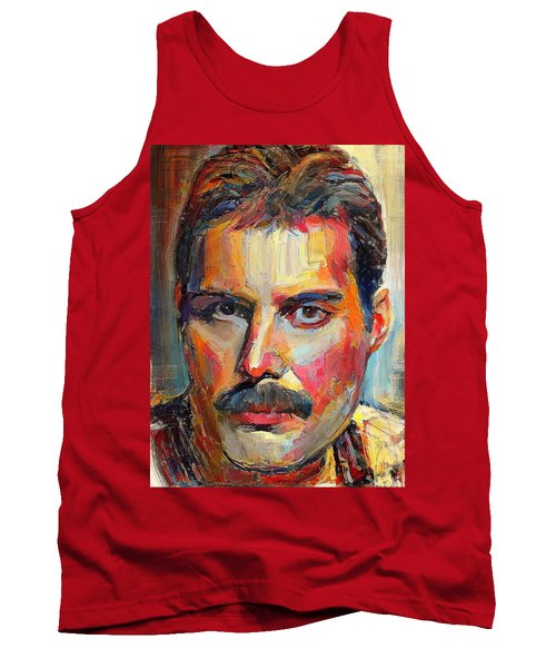 Freddie Mercury Colorful Portrait Tank Top