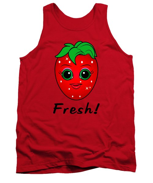 Fresh Strawberry Tank Top by A