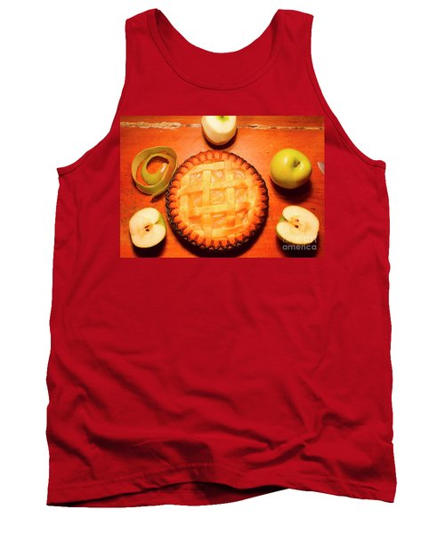 Freshly Baked Pie Surrounded By Apples On Table Tank Top