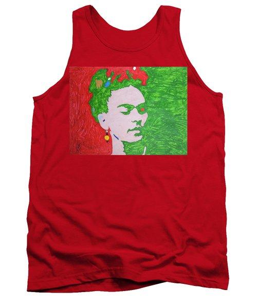 Frida Kahlo Tank Top by Stormm Bradshaw