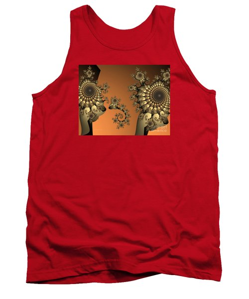 Tank Top featuring the digital art Frog King by Karin Kuhlmann