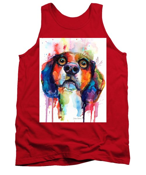 Funny Beagle Dog Art Tank Top