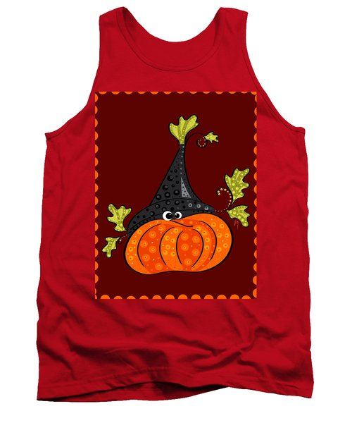 Tank Top featuring the painting Funny Halloween by Veronica Minozzi