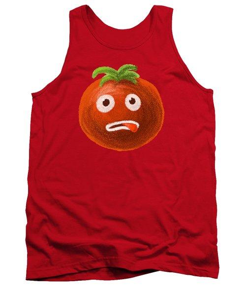 Funny Tomato Tank Top by Boriana Giormova