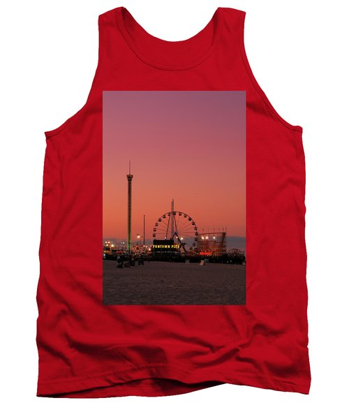 Funtown Pier At Sunset II - Jersey Shore Tank Top