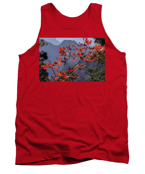 Gamble Oak In Crimson Fall Splendor Tank Top