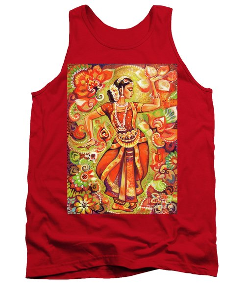 Ganges Flower Tank Top by Eva Campbell