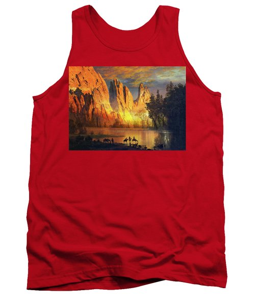 Garden Of The Gods Majesty At Sunset Tank Top by John Hoffman
