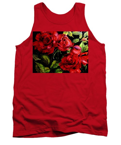 Garden Roses Tank Top by Carol Grimes
